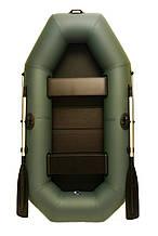 Лодка двухместная надувная пвх для рыбалки Grif boat G-240