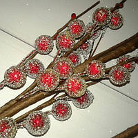 Веточка с ягодками в сахарной обсыпке 42 см, фото 1