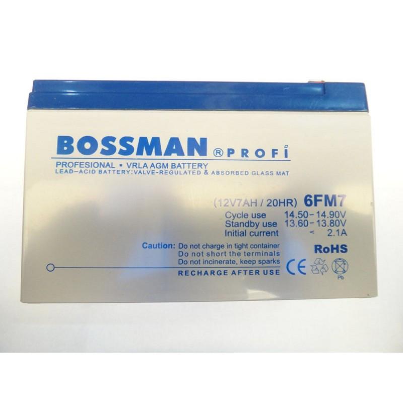 Аккумулятор Bossman 12v/7Ah LA 1270 6FM7 белый 95x65x150 Profi