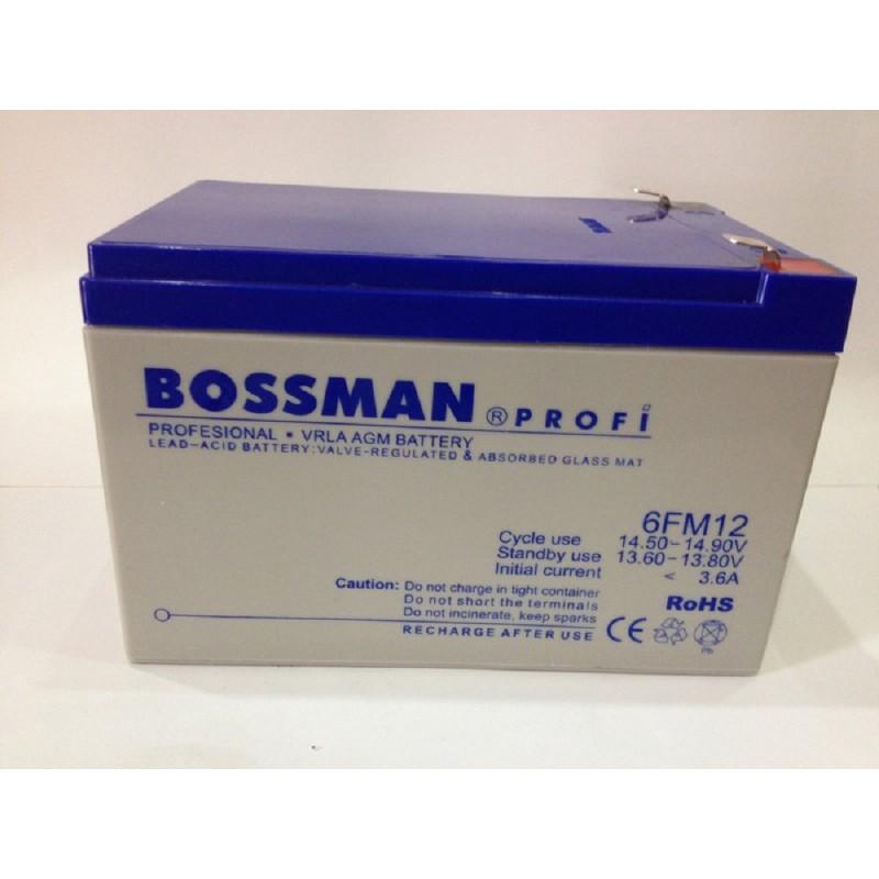 Аккумулятор Bossman Profi LA 1290 (12v/12Ah) 6FM12 белый