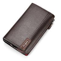 Мужской кошелек портмоне Baellerry коричневый опт, фото 1