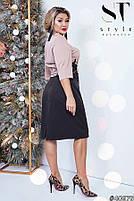 Комбинированное двухцветное платье с 50 по 56 размер, фото 2