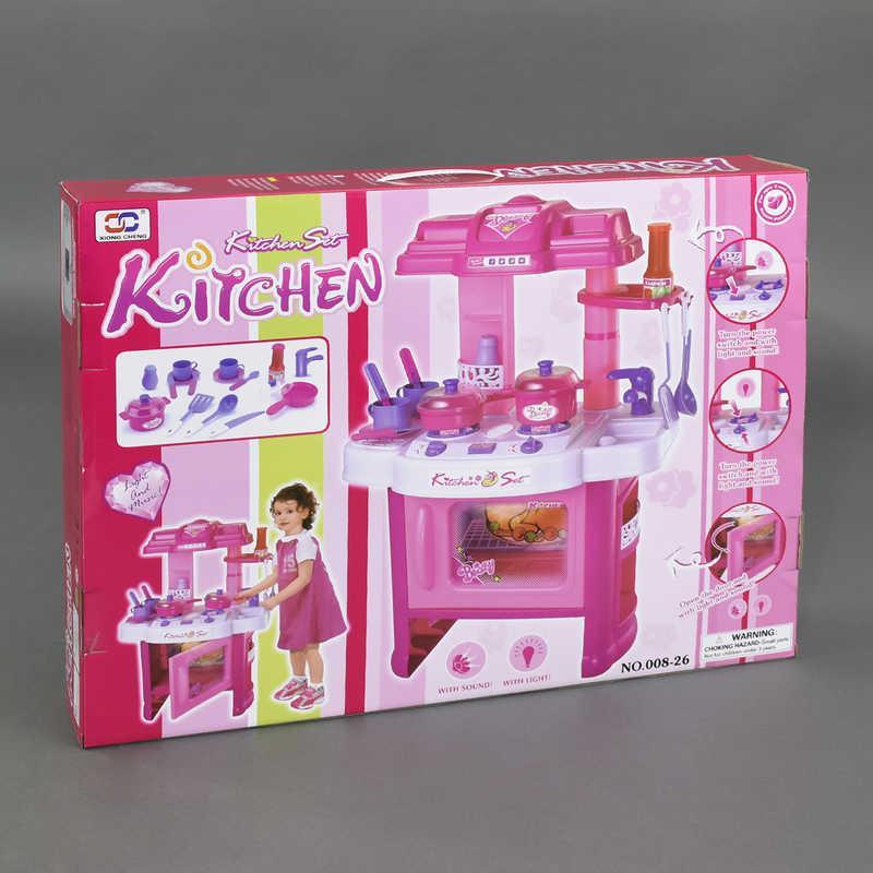 Кухня 008-26 (8) с аксессуарами, звуковые эффекты, подсветка, на батарейке, в коробке