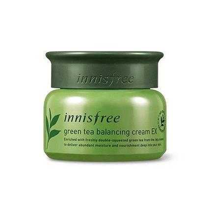 Балансирующий крем с зеленым чаем для комбинированной кожи INNISFREE Green Tea Balancing Cream, 50 мл, фото 2