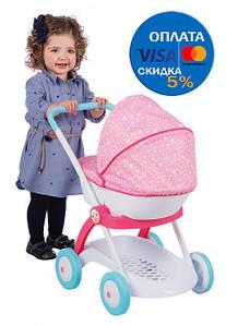 Коляска Smoby Toys Дисней Принцессы с люлькой и корзиной