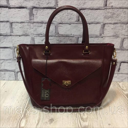 06da1a9e6a95 Кожаная стильная женская сумка