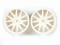 White Wheel Rims 2P