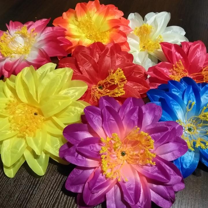 Головки искусственных цветов георгины (атлас)