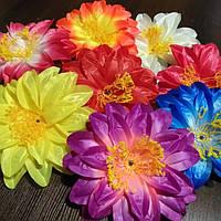 Головки искусственных цветов георгины (атлас), фото 1