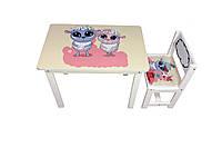 Детский стол и стул BSM1-02 sheeps - овечки