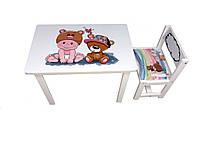 Детский стол и стул BSM1-06 baby and bear - малыш и мишка