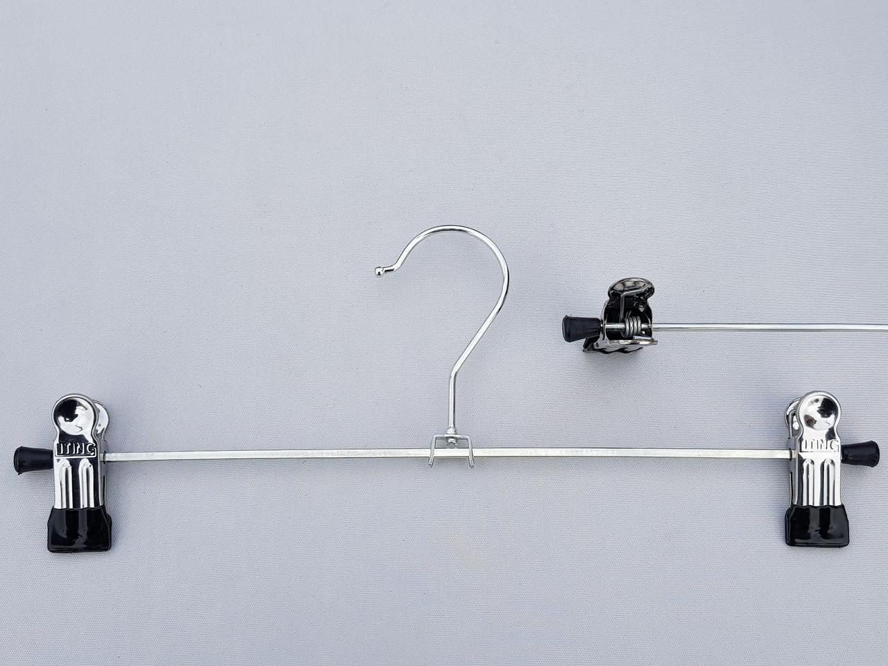 Плечики вешалки тремпеля для брюк и юбок металлические хромированные,  длина 30 см