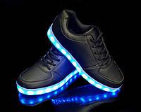 Кроссовки светящиеся Black 40