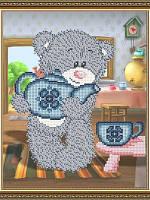 Схема для вышивки бисером VKA4411 Мишка с чайником Art Solo