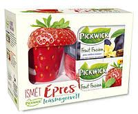 Pickwick набор: чай фруктовый в ассортименте 40 шт. + кружка