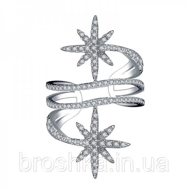 Широкое кольцо звезды метеориты ювелирная бижутерия