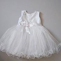 """Детское нарядное белое платье для девочки 3-5 лет """"Снежки"""""""