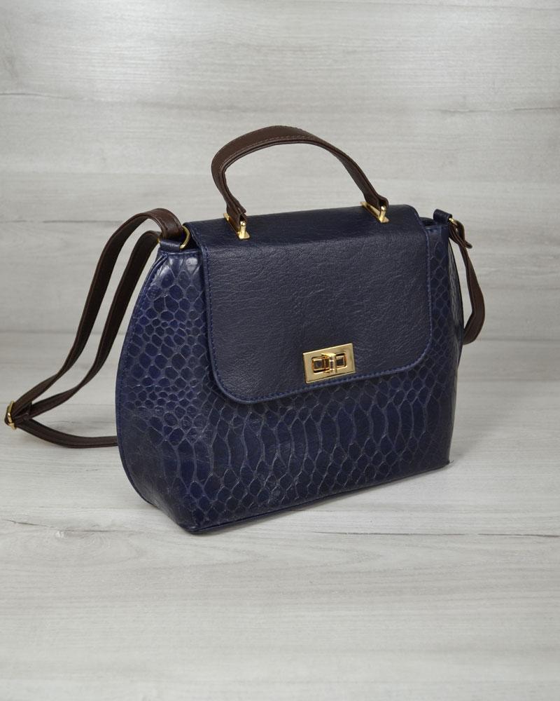 70664e69d7a9 Молодежная женская сумка-клатч синий крокодил с синим гладким -  Оптово-розничный интернет магазин