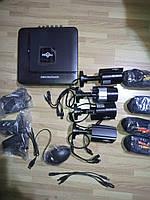 Комплект видеонаблюдения DVR Hiseeu 4 камеры 720P + жесткий диск 1 тб