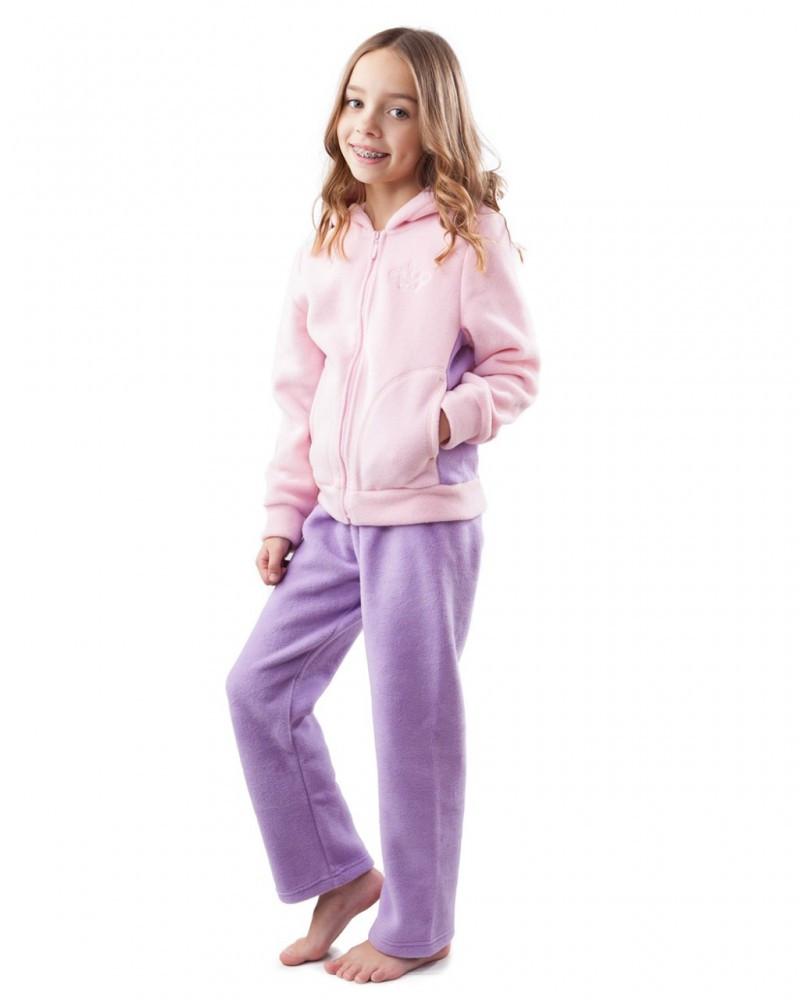Теплый флисовый костюм на девочку (размеры 116-158 в расцветках)