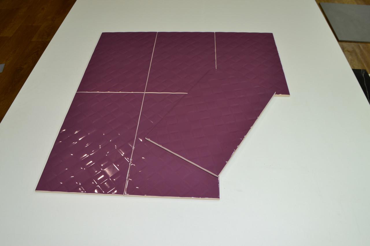 Кафель для стен Гортензия лиловый 250х400 мм.