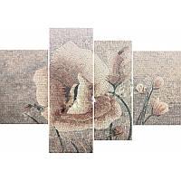 Модульная картина из каменной мозаики Нежная Роза, фото 1