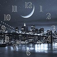 """Набор алмазной вышивки (мозаики) """"Часы - Ночной город"""""""