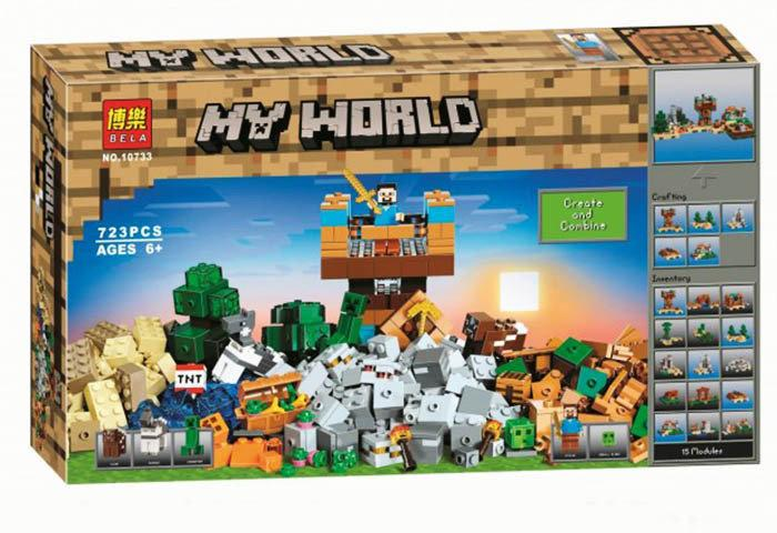 "Конструктор Bela 10733 ""Верстак 2.0"" (аналог Lego Майнкрафт, Minecraft 21135)"