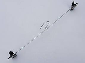 Плечики вешалки тремпеля для брюк и юбок металлические оцинкованные,  длина 40 см, фото 2