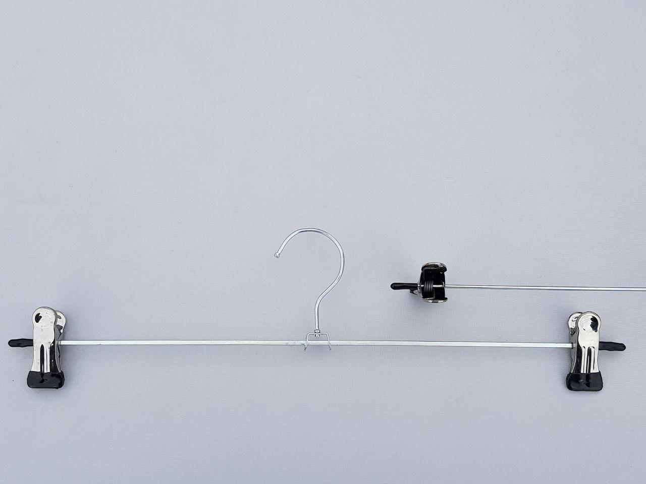 Плечики вешалки тремпеля для брюк и юбок металлические оцинкованные,  длина 40 см