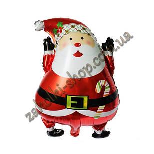 Фольговані кульки, форма: Санта Клаус, 24 дюйма/60 см, 1 штука