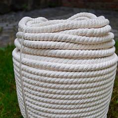 Канат хлопчатобумажный Ø 10 мм х 50 метров (моток) – Веревка бельевая хлопковая – Мотузка бавовняна Х/Б