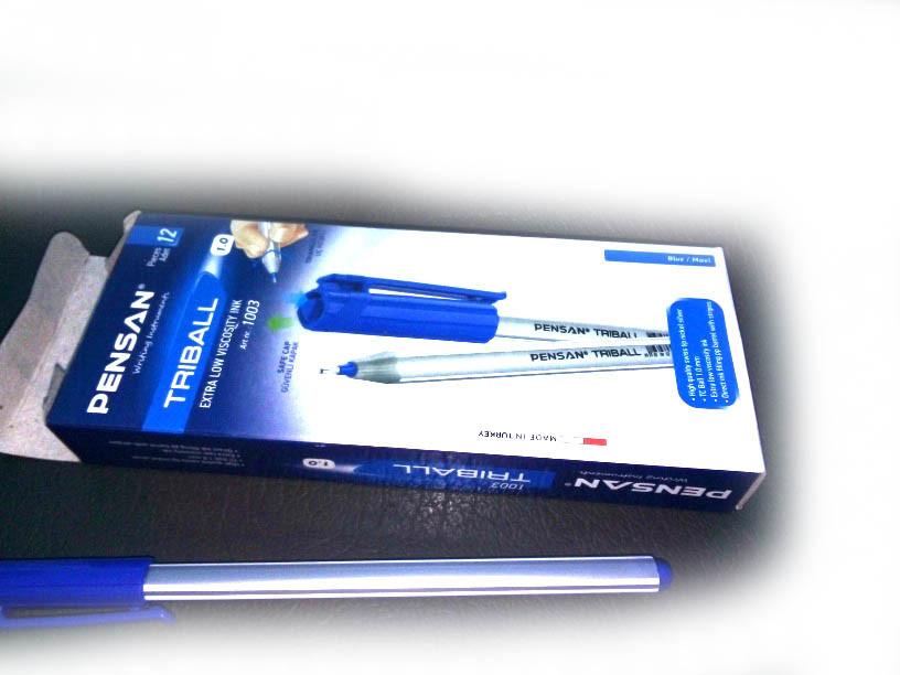 Ручка трехгранная TRIBALL синяя 12шт Pensan