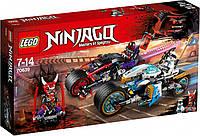 Конструктор LEGO NINJAGO Уличные гонки змей 308 деталей (70639) для мальчика, фото 1