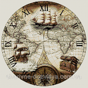 """Набор алмазной вышивки (мозаики) """"Часы - Парусники"""", фото 2"""
