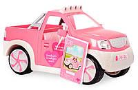 Джип розовый с FM радио и светом, транспорт для кукол, Lori