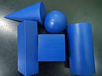 Геометрические объёмные тела ( фигуры) 5шт окрашенные