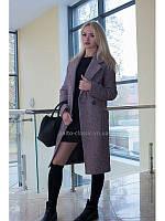 Пальто женское двубортное VOLSAR 7008с на утеплителе slimtex 305a5cdf49e50