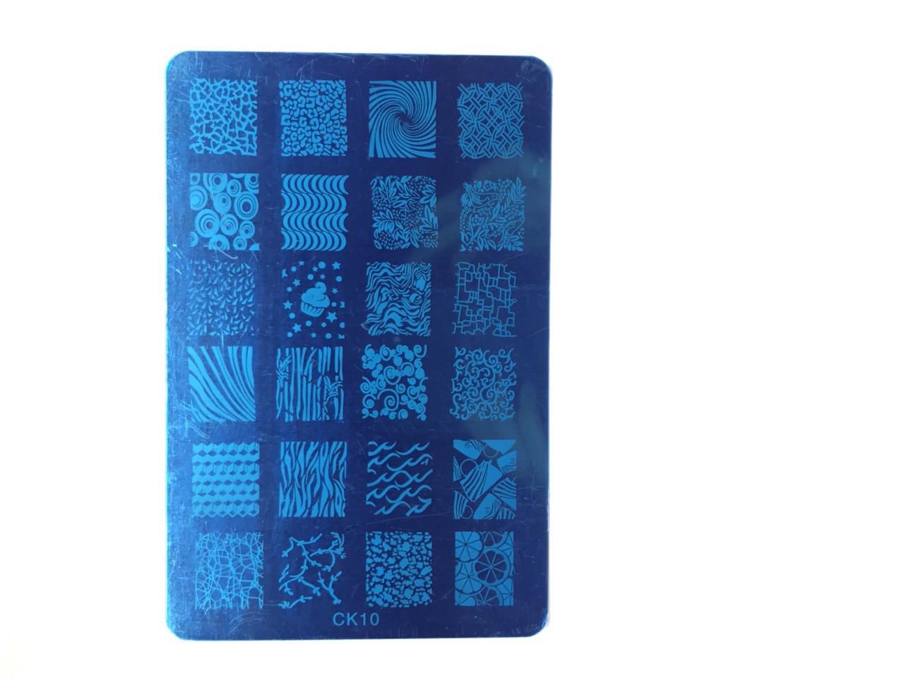 Пластина для стемпинга (прямоугольная 9,5х14,5) CK 10