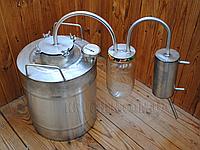 Дистиллятор - 17 литров - Стеклянный сухопарник - с cухопарником из стеклянной банки стекла - Дистилятор