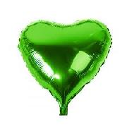 Фольгированные воздушные шары, форма:сердце, цвет: зеленый, 18 дюймов/45 см, 1 штука