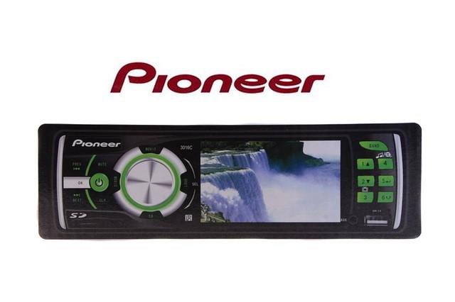 Магнитола мультимедийная  Pioneer 3016С avi/dvix/mp4 с дисплеем 3 дюйма для просмотра фильмов, клипов