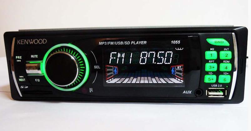 Автомагнитола Kenwood 1055 мультимедийная несъемная панель стильная подсветка