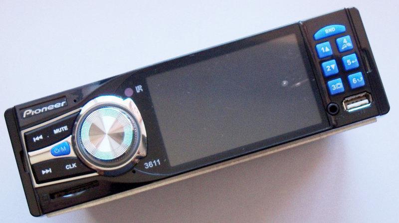 "Бездисковая магнитола бренда Pioneer 3611 экран 3.6"" автомобильная магнитола мр5"