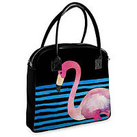 Женская сумочка Oxford Фламинго на черном море (OXF_TRO015_BL)