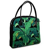 Женская сумочка Oxford Экзотические листья черная (OXF_TRO010_BL)