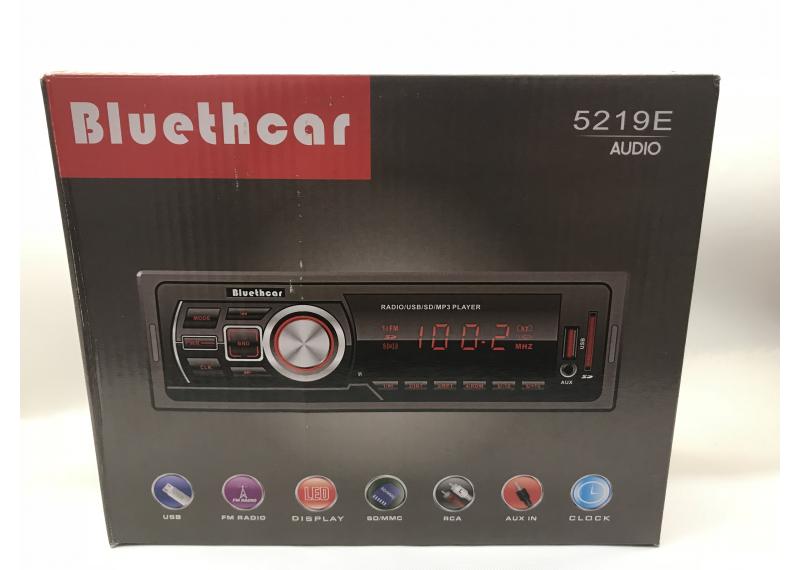 Магнитола в машину Bluethear 5219E атвомагнитола без диска 1 дин