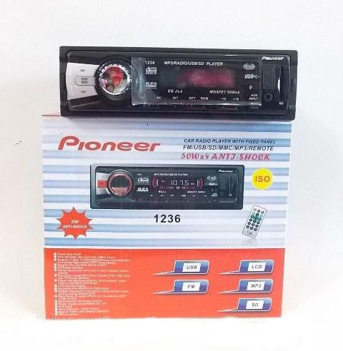 Автомагнитола Pioneer 1236 с SD/MMC с лотом и USB разъёмом магнитола с диском пионер