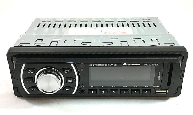 Автомагнитола Pioneer 2031 USB SD с встроенным дисплеем