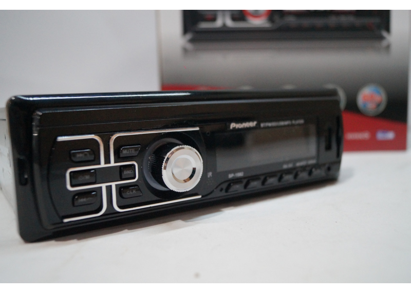 Автомагнітола з Bluetooth SP-1582 SD/MMC слот 2 флешки незнімна панель